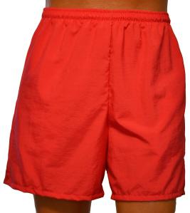 red walking short
