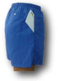 walking shorts with side and back pockets
