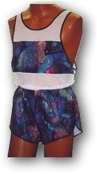 matching mens microfiber short and singlet