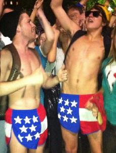 GW XC flag shorts