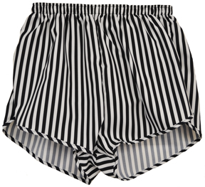 black and white stripe short
