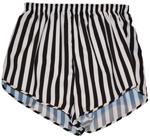 black and white stripe short