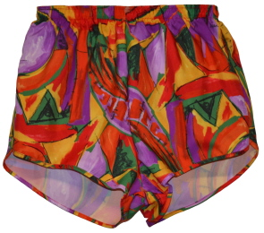 neon splash print short