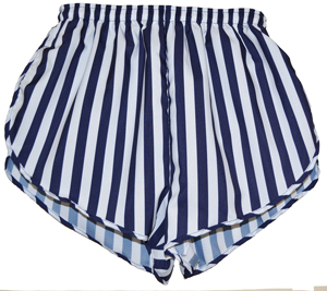 Navy and white stripe short