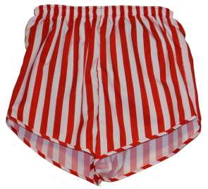 red and white stripe short