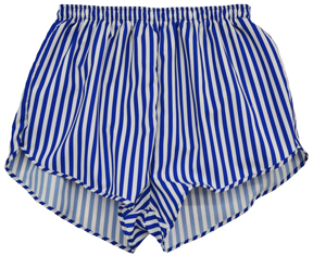 royal and white thin stripe short