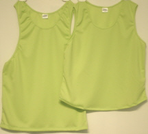solid lime singlets