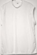 sleeveless white tshirt