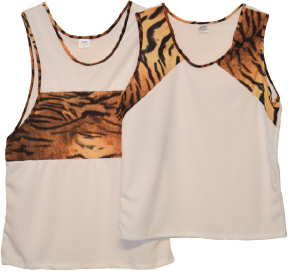 singlets with jubilee print panels