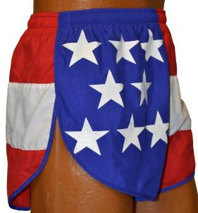 split style US flag short