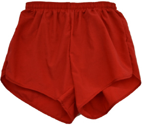 red running shorts