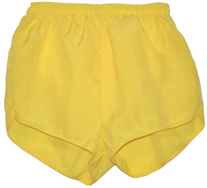 yellow running shorts